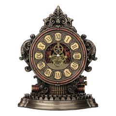 Steampunk Typewriter Gear Clock - Steampunk Sculpture - Cold Cast Bronze