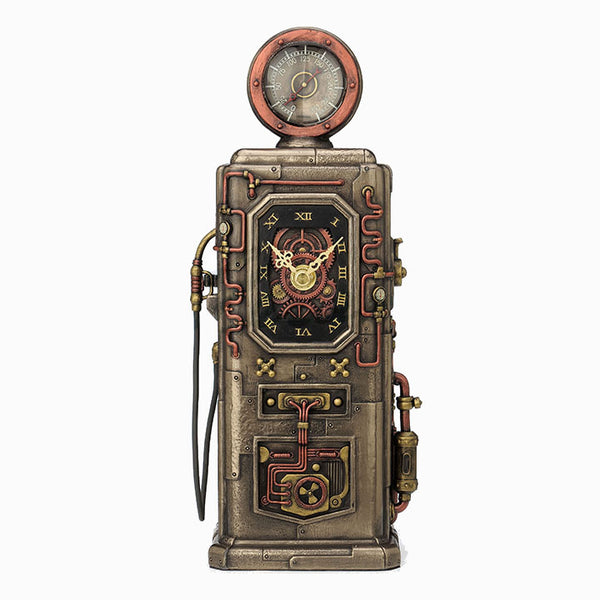 Steampunk Fuel Dispenser Tower Clock - Home Accent