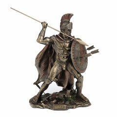 Spartan Soldier with Spear and Shield Knights & Warriors. Sculpture