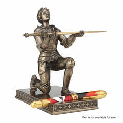 Joan of Arc Kneeling Pen Holder (with Letter Opener) Sculpture