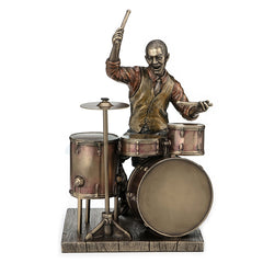 Jazz Band - Drummer - Americana Sculpture - Cold Cast Bronze