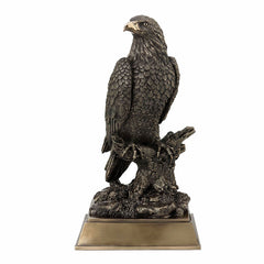 Bald Eagle Perching on Tree Branch Animal Sculpture