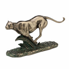 Pacing Cheetah Animal Sculpture