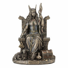Frigga Sitting On Throne Myth & Legend. Sculpture