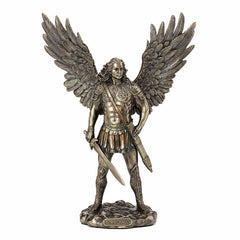 Saint Michael With Sword And Scabbard Religious. Sculpture
