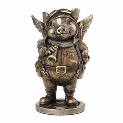 Steampunk Aviator Flying Piggy Steampunk. Sculpture
