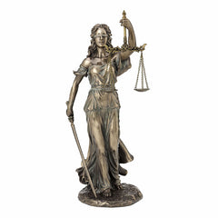 Justice Holding Sword And Scale Sculpture