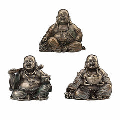 Laughing Buddha (Budai) Holding Yuanbao With Two Hands Hindu and Buddhism Sculpture