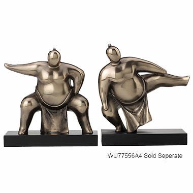 Abstract Squatting Sumo Ethnic Sculpture