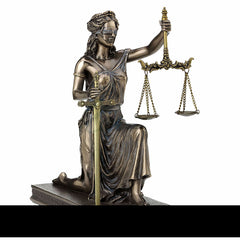 Lady Justice Kneeling Holding Scale And Sword (Letter Opener) Sculpture