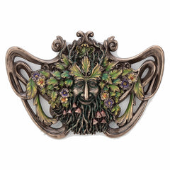 Green Man Spring Mushroom Wall Plaque Myth & Legend. Sculpture