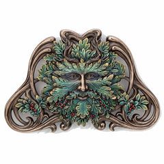 Green Man Winter Mistletoe Wall Plaque Myth & Legend. Sculpture