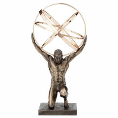 Atlas Carrying The Celestial Spheres Myth & Legend. Sculpture