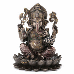 Ganesha Sitting On Lotus Hindu and Buddhism Sculpture