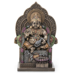 Lord Kubera Hindu God Of Wealth - Hindu and Buddhism Sculpture - Cold Cast Bronze