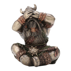 See No Evil Viking - Knights & Warriors Sculpture - Cold Cast Bronze