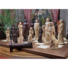 Mytical Gods Statue of Greek Chess Set Includes Chess Pieces & Board