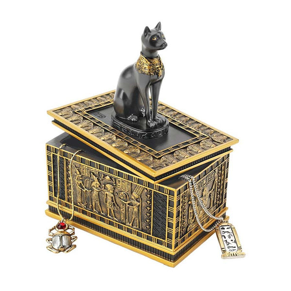 Royal Bastet Egyptian Collectible Treasure Jewelry Box/Gift Item - Set of 2