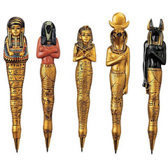 "6"" Ancient Egyptian Sculptures Collectible Pens - Set of 5"