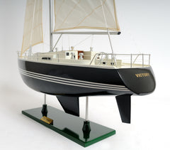 XoticBrands Decor Victory Yacht Painted Boat Model Display