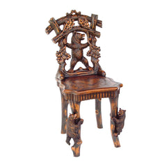 18th Century Swiss Antique Replica Forest Bear Sculptural Chair