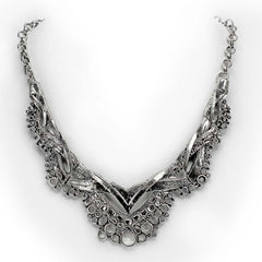 Petal Thorn Eliana Lace Metal Necklace Jewelry