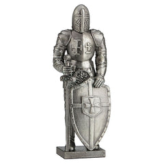 Knight With Sword And Shield - Knights & Warriors Sculpture - Zinc Alloy