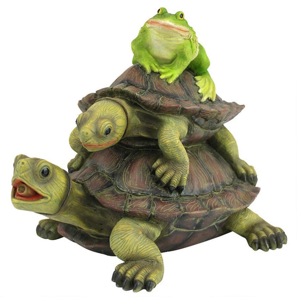 Along for the Ride, Frog and Turtles Spitter Piped Statue