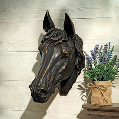 Freedom Spirit Horse Study Wall Sculpture