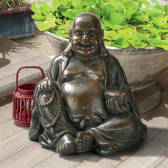 Laughing Buddha Happy Hotei Statue: Large