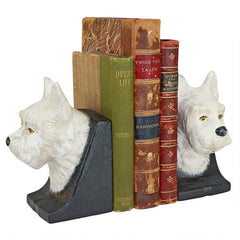 West Highland White Terrier Cast Iron Sculptural Bookend Pair