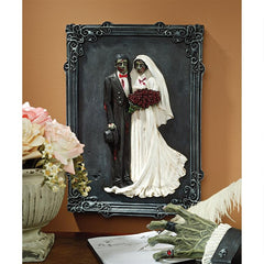 Zombie Wedding Wall Sculpture