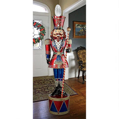 Illuminated Bavarian Style Holiday Nutcracker Statue