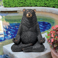 Being One with the Honey Zen Bear Statue