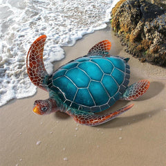 Blue Sea Turtle Statue: Large