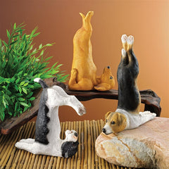 The Zen of Canine Yoga Dog Statues: Set of Three