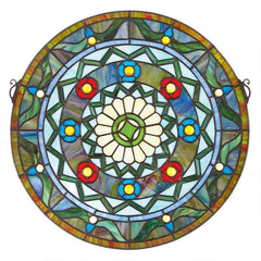 Kaleidoscope Stained Glass Window