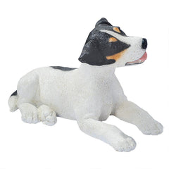 Black & White Jack Russell Puppy Dog Statue