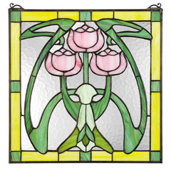 Glasgow Basket Tiffany-Style Stained Glass Window