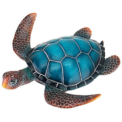 Blue Sea Turtle Statue: Medium