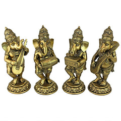 Lord Ganesha Musical Elephant God Hindu Statue Collection