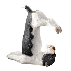 The Zen of Canine Barkasana Terrier Yoga Dog Statue