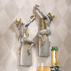 Champagne Cuddle Cuties Speakeasy Bar Wall Sculptures