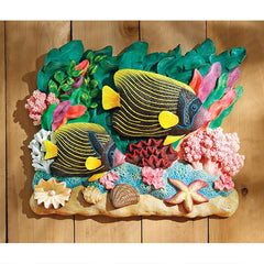 The Great Barrier Reef Fish Wall Sculpture: Emperor Angelfish
