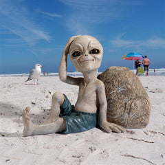 Surfer Dude Out-of-this-World Alien Statue