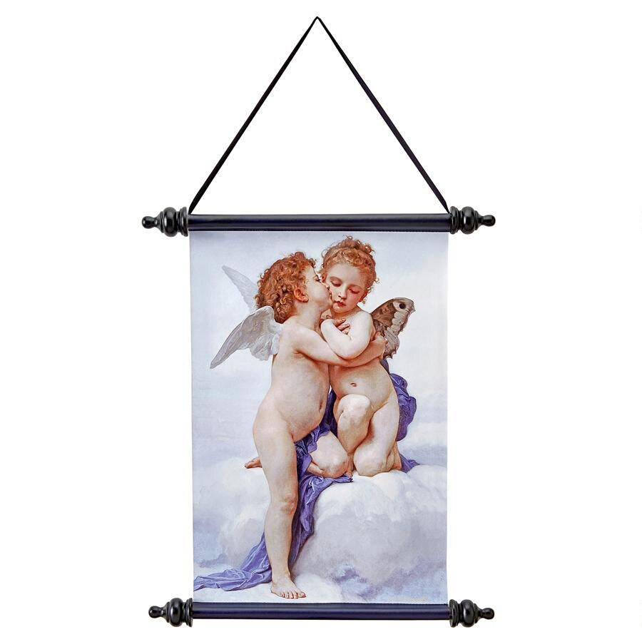 Cupid & Psyche: The First Kiss Canvas Wall Scroll