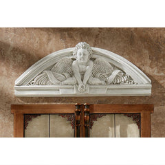 Cherubs Grande Welcome Sculptural Wall Pediment