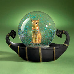 Bastet Cat Goddess of the Nile Water Globe Sculpture
