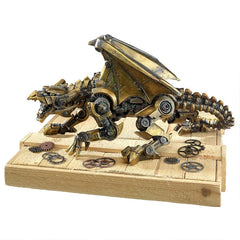 Steampunk Gothic Gear Dragon Statue