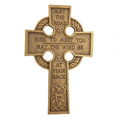 May the Road Celtic Cross Wall Sculpture